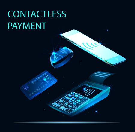 Contactless payment. NFC technology