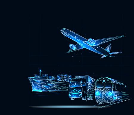 Transportation, import-export and logistics concept