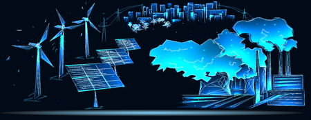 Ð¡lean and polluting electricity generation production