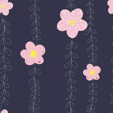 Seamless cute spring or summer floral pattern