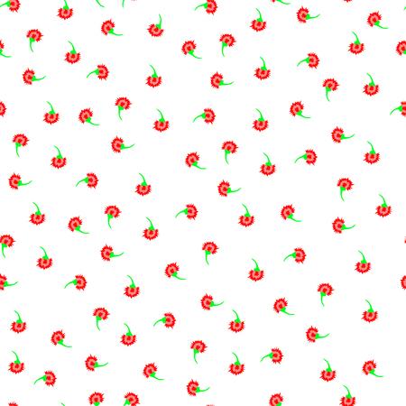 Art carnation back pattern seamless