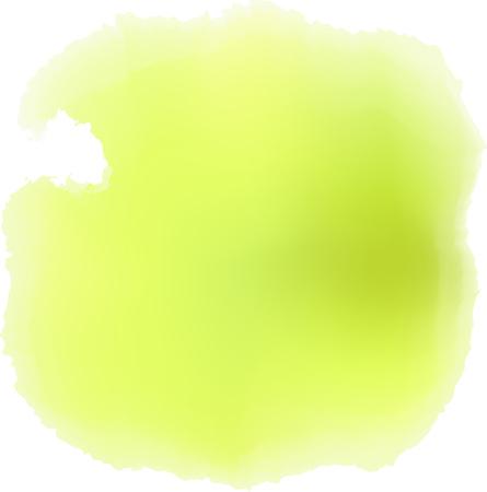 Lime water color splash