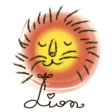 Lion. Tropical vector set |Hand drawing silhouette | T-shirt Printing | Badge Applique Label, Summer Paradise Holidays Typography Background For Summer Ilustração