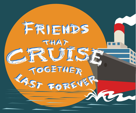 Typography slogan with ship and sea. Vector for t shirt printing and embroidery, Graphic tee and printed tee