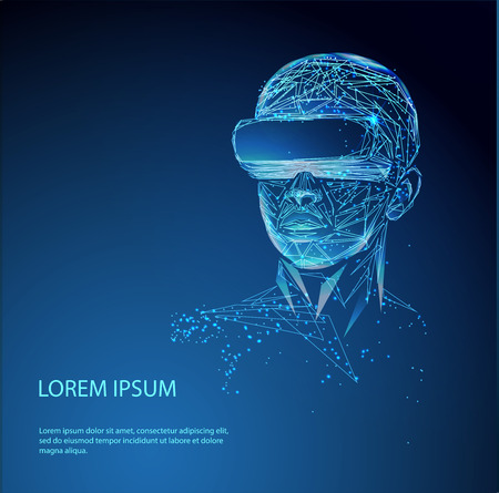 virtual reality Vektoros illusztráció