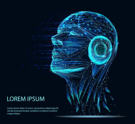 Líneas conectadas a pensadores, que simbolizan el significado de la inteligencia artificial.