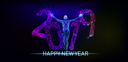 Happy New Year Banque d'images - 122054580
