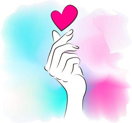 Korea finger heart