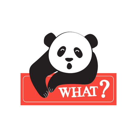 Vector illustration of Panda in comic style. Design for sticker, patch, poster, personal diary. Fashion for teenagers