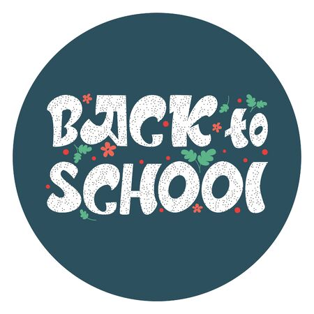School background with the inscription back to school in the style of a sketch on a blue Board. The phrase education. Vector template for advertising banners for sale Vectores