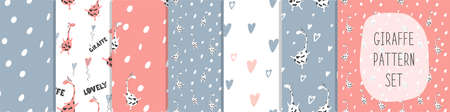 A large set of Seamless patterns with a cute delicate design.