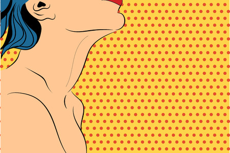 Vector pop art illustration with sexy woman Illustration