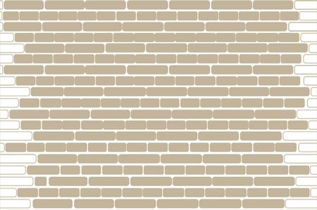 Vector seamless colorful texture. Brick wall