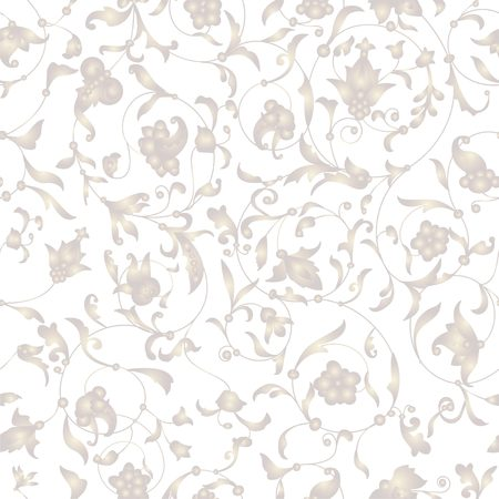 Vector seamless background with floral ornament. Vector seamless pattern