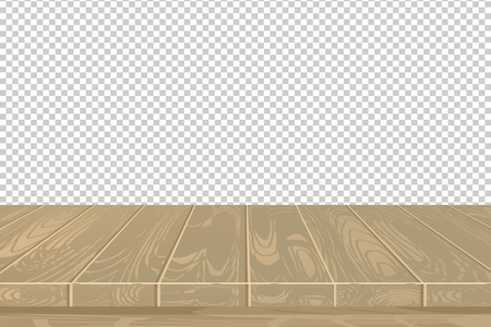 Vector wood table top on isolated background. EPS 10