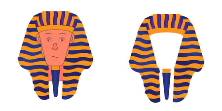Vector illustration of the Pharaoh headdress. Pharaoh head Ilustrace