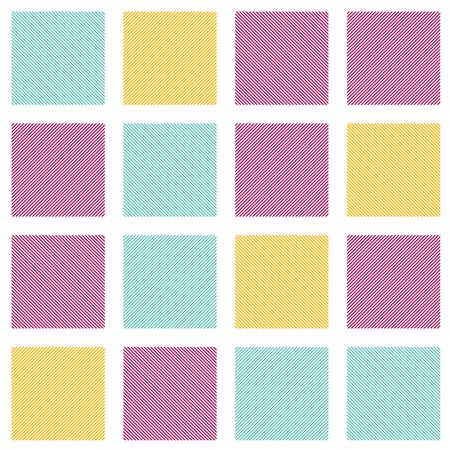 Colorful vector square grid pattern. Seamless texture. EPS 10