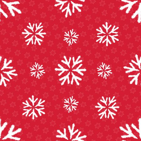 Vector seamless pattern with snowlakes. Christmas background. EPS 10 Illustration