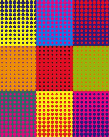 Vector colorful background with dots in pop art style. EPS 10 Illustration