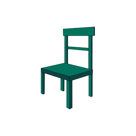 A green vector chair isolated on a white background. EPS 10