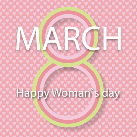 Vector illustration for Woman day 8 March