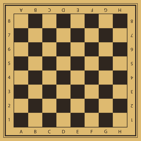 Vector chess field with numbers Ilustração