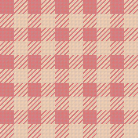 Vector seamless texture with vichy cage ornament Vecteurs