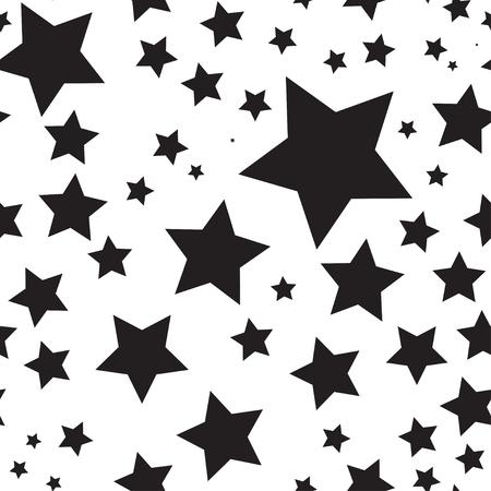 Vector seamless texture with stars Illustration