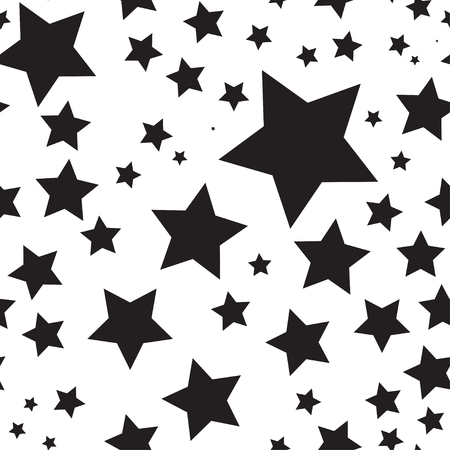 Vector seamless texture with stars Stock Illustratie