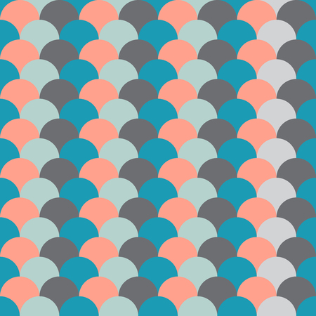 seamless pattern with shell ornament in pastel colors