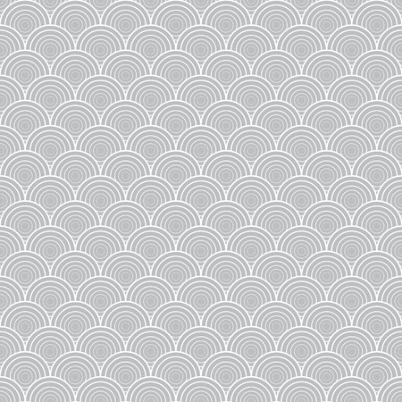 Grey illustration with graphic shell ornament. Seamless texture Illustration