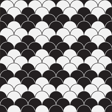 Black and white monochrome seamless pattern with rhoms structure Illustration