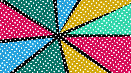 pop art colorful rays background