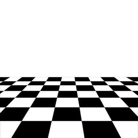 Vector black and white perspective floor background