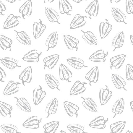 Bell pepper vector seamless pattern