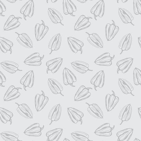 Bell pepper vector seamless pattern