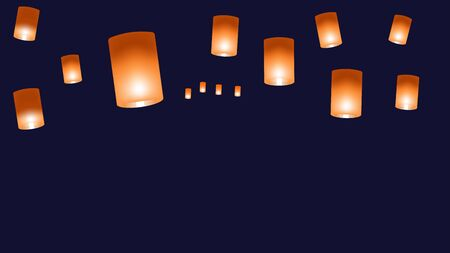 Vector web background with chinese lanterns