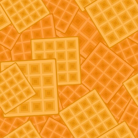 Seamless background with square waffels. Vector texture Illusztráció