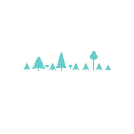Vector forest logoisolated on a white background. Flat vector illustration