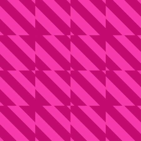 Geometric pink duo color background. Memphis style seamless pattern