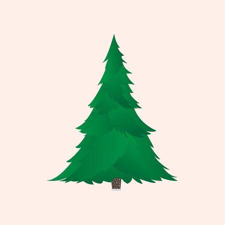 Grüner Weihnachtsbaum mit realistischen Zweigen