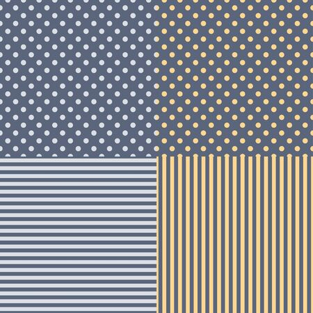 Set of four seamless patterns . 矢量图像