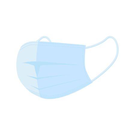 Medical protective mask. Flat style  illustration 矢量图像