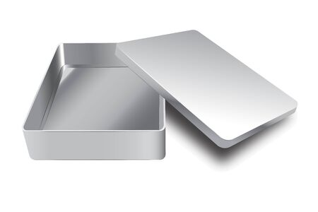 Template of metal box with cover up