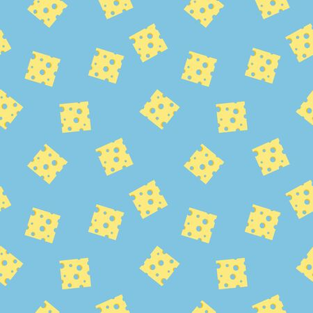 Seamless pattern with cheese slices