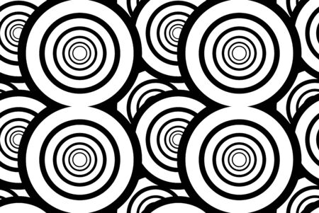 Black and white seamless background with circles 矢量图像