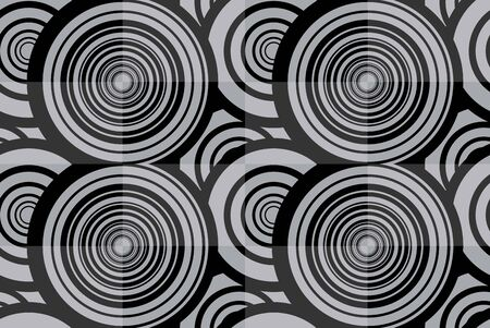 Black and white seamless background with circles Stock Illustratie
