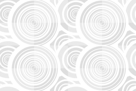 Vector white seamless background with circles or volute shap