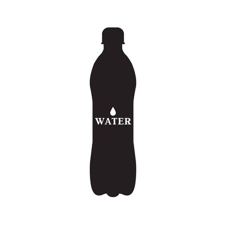 Black silhouette of a water bottle vector illustration Ilustracja