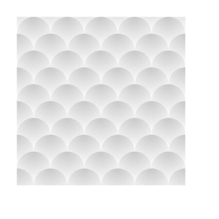 Vector white seamless texture with 3d balls.